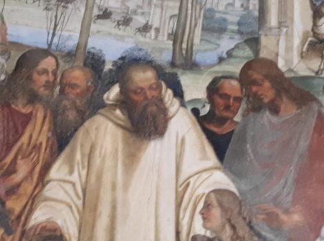 Affreschi del Chiostro Maggiore Abbazia Monte Oliveto. La vita di San Benedetto illustrata da due grandi pittori rinascimentali: Luca Signorelli e Giovanni Antonio Bazzi, detto il Sodoma.